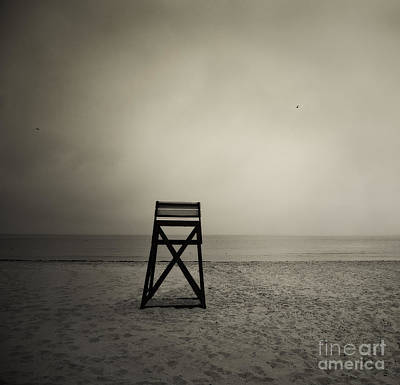 The Who - Moody lifeguard stand on beach. by John Greim