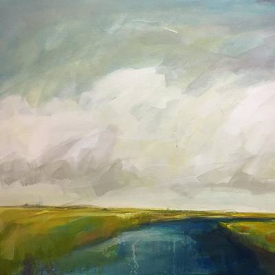 Painting - Moody Marsh by Dave Baysden