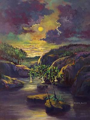 Painting - Moody Moonlight by Randy Burns