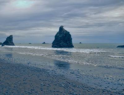 Photograph - Moody Morning At La Push Washington by Dan Sproul