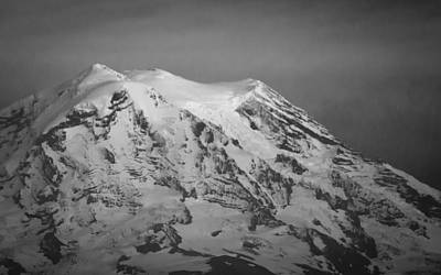 Photograph - Moody Mt. Rainier by Erin Kohlenberg