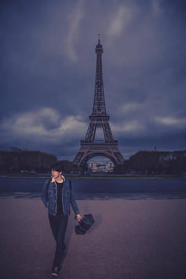 Photograph - Moody Paris by Kim Wilson