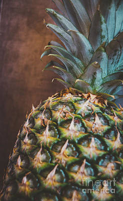Photograph - Moody Pineapple by Andrea Anderegg