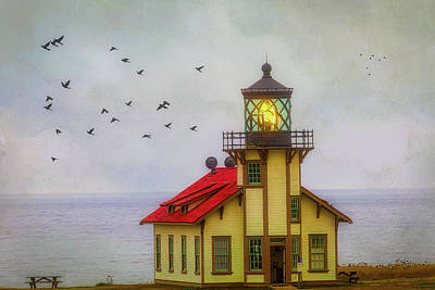 Photograph - Moody Point Cabrillo Light Station by Garry Gay