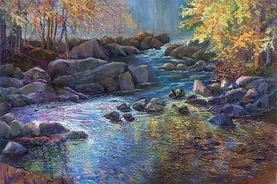 Painting - Moody River by Jan Hardenburger