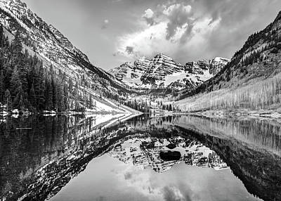 Photograph - Moody Skies Over The Maroon Bells by Gregory Ballos