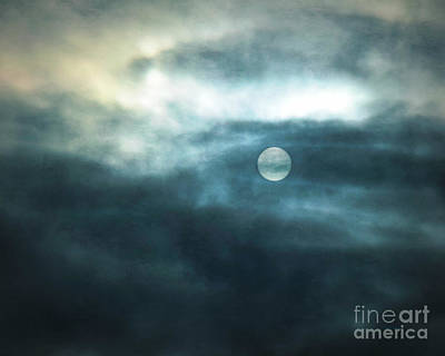 Photograph - Moody Sky With Winter Filter by Kathy M Krause