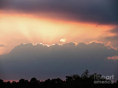 Photograph - Moody Sunset Clouds by Paul Farnfield