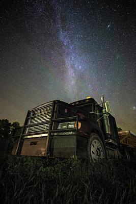 Photograph - Moody Trucking by Aaron J Groen