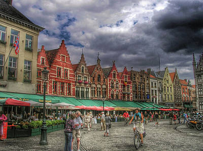 Historic Architecture Photograph - Moody Weekend In Brugge by Connie Handscomb