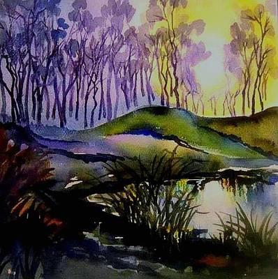Moody Woods Art Print