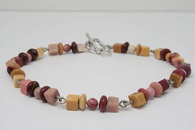 Wire Wrap Bracelet Jewelry - Mookaite Delight by Jerri Nielsen