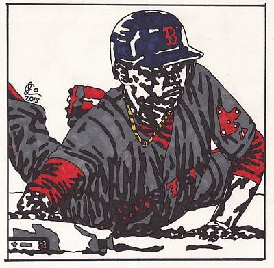 Mlb Boston Red Sox Drawing - Mookie Betts 1  by Jeremiah Colley