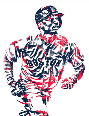 Mookie Betts Boston Red Sox Pixel Art 2 Art Print