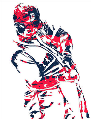 Mookie Betts Boston Red Sox Pixel Art 3 Art Print