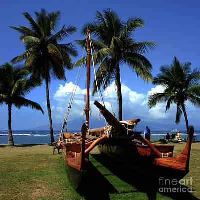 Photograph - Moolele Canoe At Hui O Waa Kaulua Lahaina by Sharon Mau