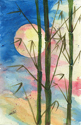 Painting - Moolight Bamboo by Darice Machel McGuire