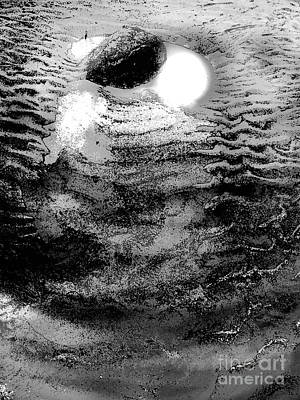 Photograph - Moonlit Puddle Beach Rock by Expressionistart studio Priscilla Batzell
