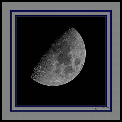 Photograph - Moon 61 Percent by Mark Myhaver