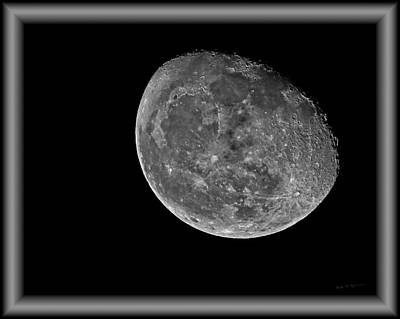Photograph - Moon 8483bw by Mark Myhaver