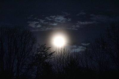 Photograph - Moon A-rising by Kathryn Meyer