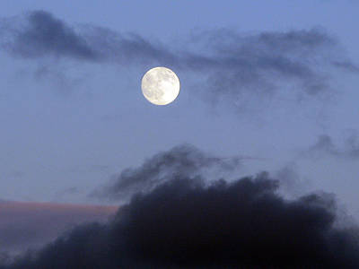 Moon And Clouds Art Print by Richard Singleton