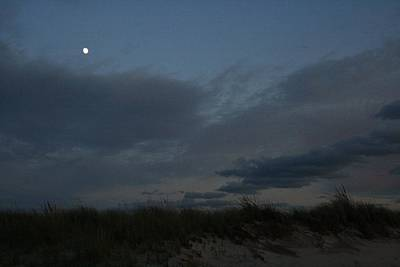 Photograph - Moon And Dune by Christopher Kirby