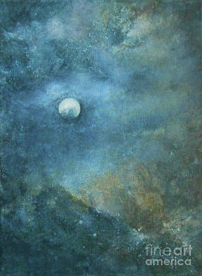 Painting - Moon And Earth by Jane See