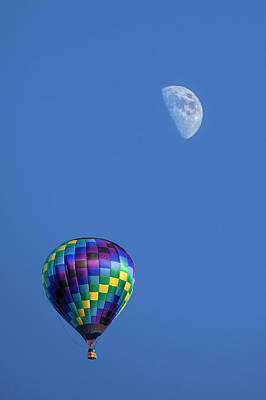 Photograph - Moon And Hot Air Balloon by Randall Nyhof