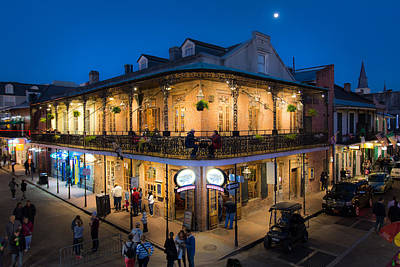 Photograph - Moon And Jupiter Over Bourbon Street by Kristina Austin Scarcelli