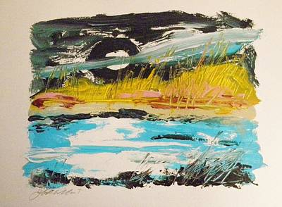 Painting - Moon And Marsh by John Williams