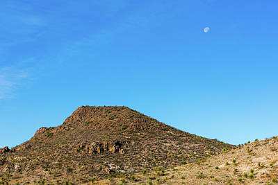 Photograph - Moon And Mesa by SR Green