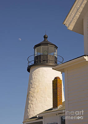 Photograph - Moon And Pemiquid Lighthouse II by Alana Ranney
