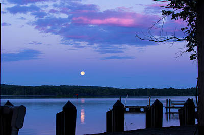 Photograph - Moon And Pier by Buddy Scott
