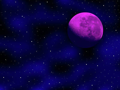 Photograph - Moon And Stars by Mark Blauhoefer