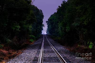 Photograph - Moon And Steel by Rick Lipscomb