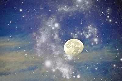 Photograph - Moon And The Stars by Terry Temple