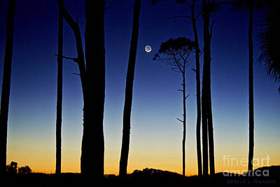 Photograph - Moon At Sunset by David Arment