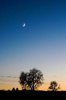 Photograph - Moon At Sunset by Monte Stevens