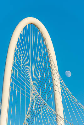 Dallas Photograph - Moon At The Hunt Bridge by Tod and Cynthia Grubbs
