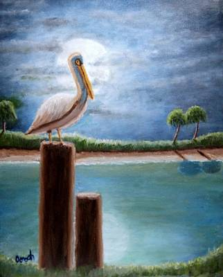 Painting - Moon Bathing by Gregory Dorosh