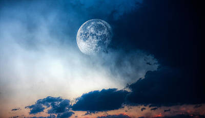 Photograph - Moon by Bob Orsillo