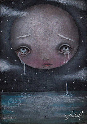 Sad Moon Painting - Moon Boy by  Abril Andrade Griffith