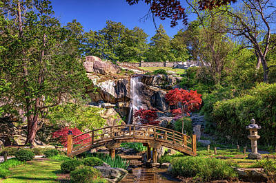 Moon Bridge And Maymont Falls Art Print