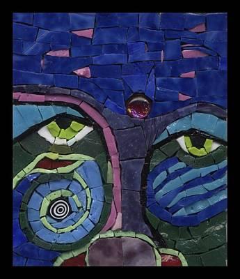 Moon Child - Fantasy Face No. 7 Art Print by Gila Rayberg