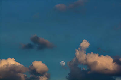 Pop Art - Moon Clouds and Sky by Robert Ullmann