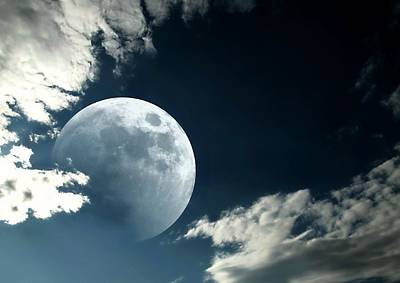 Photograph - Moon Clouds by Diana Angstadt