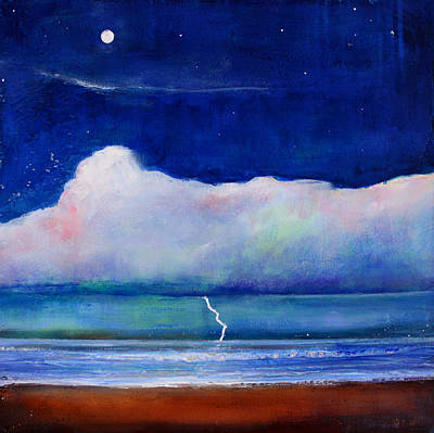 Moon Clouds Art Print by Toni Grote