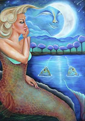 Painting - Moon Dance by Janice Aponte