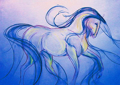 Sporthorse Mixed Media - Moon Dance by Jennifer Fosgate